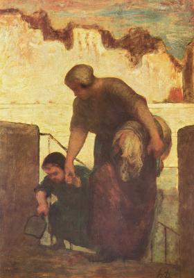 Honore Daumier. Laundress