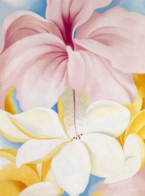 Georgia O'Keeffe. Hibiscus and plumeria