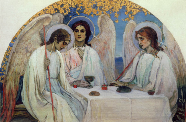 Mikhail Vasilyevich Nesterov. The Old Testament Trinity. The original mosaics of the iconostasis of the Church of the Resurrection