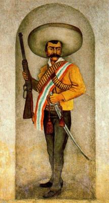 Диего Мария Ривера. Мужчина с ружьем