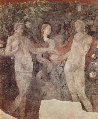 Paolo Uccello. The creation of animals and Creation of Adam. Snippet: Original sin. The cycle of frescoes on the Genesis of the Church of Santa Maria Novella.