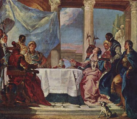 Franz Martin Quen. The Banquet Of Cleopatra