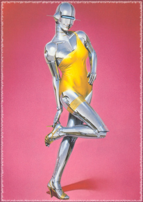 Hajime Sorouama. The robot in the yellow swimsuit