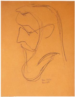 Max Weber. Portrait Of Henri Matisse