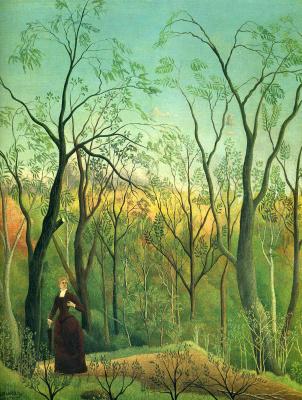 Henri Rousseau. Walk in the woods