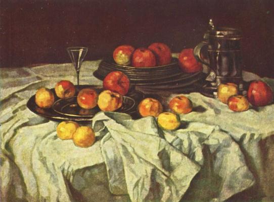 Карл Шух. Натюрморт с яблоками
