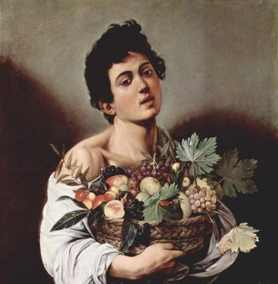 Michelangelo Merisi de Caravaggio. Boy with a basket of fruit