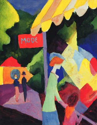 August Macke. Storefront mod