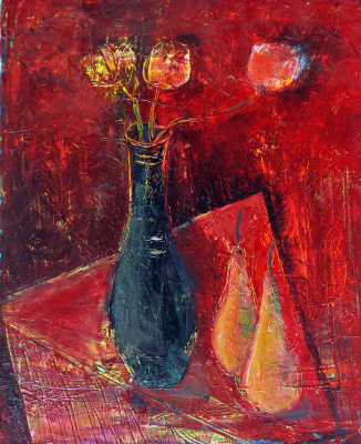 Zakir AHMED Ahmedov. .2014year21x17in Pears Original Oil Painting on Canvas
