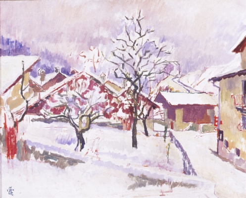 Giovanni Giacometti. The first snow