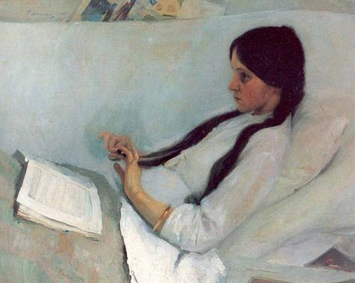 Philip Andreevich Malyavin. Sick. Portrait Of Elizaveta Martynova