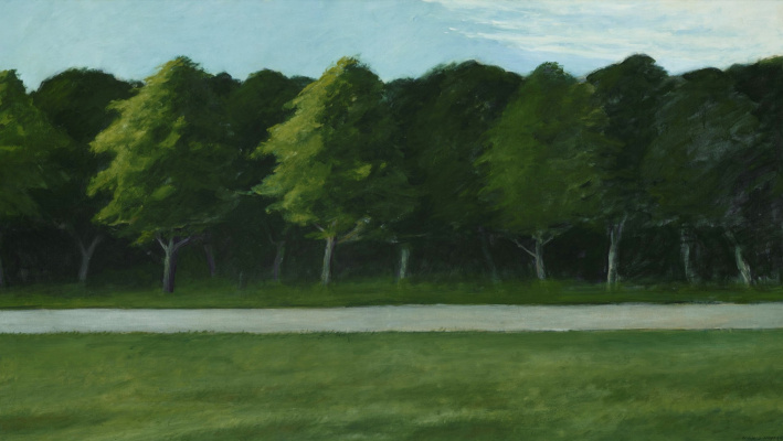 Edward Hopper. Road and trees