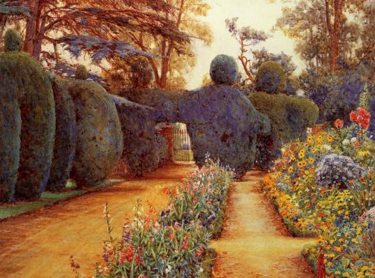 Эрнест Артур Роу. Цветы в саду
