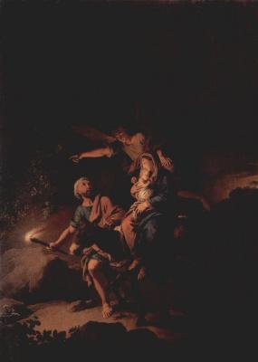 Христиан Вильгельм Эрнст Дитрих (Дитрици). Бегство в Египет