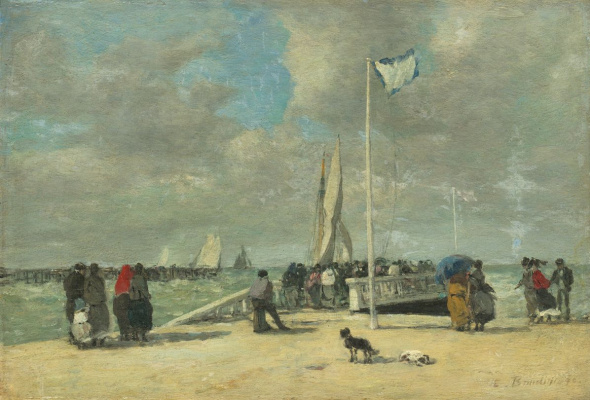 Eugene Boudin. On the dock