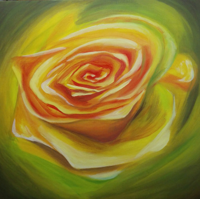 Olga Nadtochaeva. Yellow rose