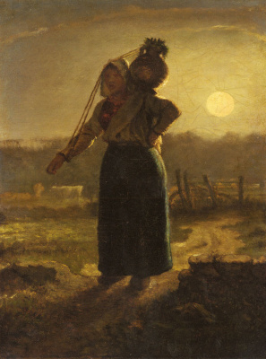 Jean-François Millet. Norman thrush