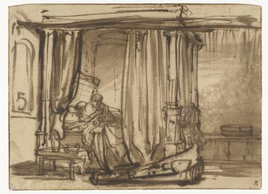 Рембрандт Харменс ван Рейн. Спальня с Саскией в постели