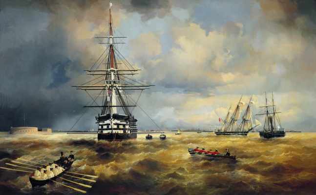 Ivan Constantinovich Aivazovski. The Roads at Kronstadt