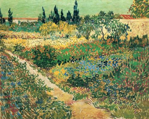 Винсент Ван Гог. Цветущий сад с дорожкой