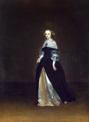 Герард Терборх. Портрет Катарины ван Лейнинк