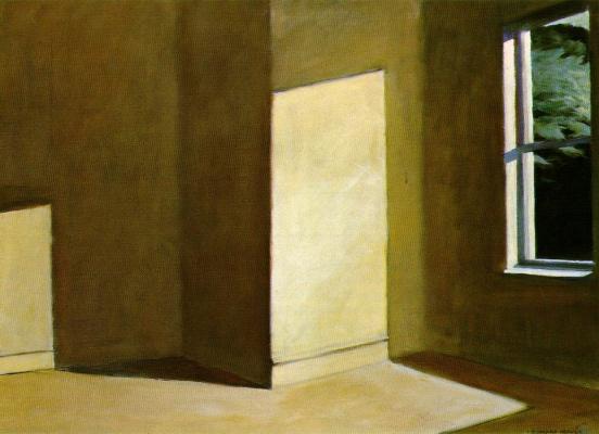 Edward Hopper. Sun in an empty room