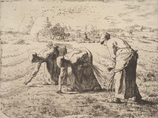 Jean-François Millet. Ears pickers