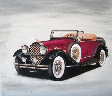 Victor Petrovich Burmin. Retro car