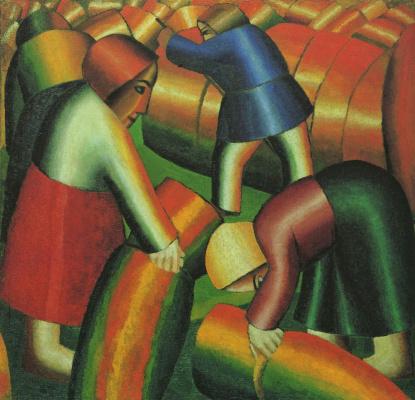 Kazimir Malevich. Cleaning rye