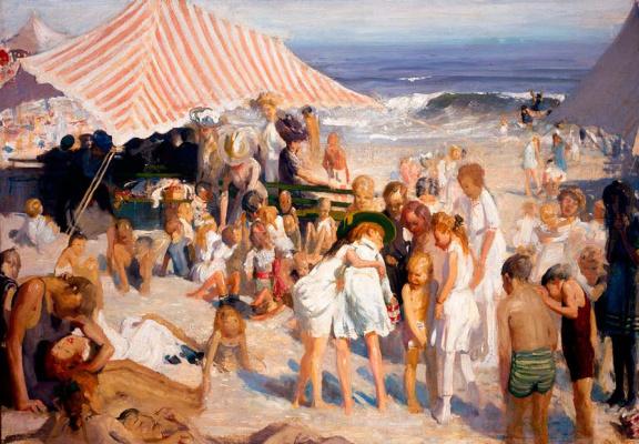 Джордж Уэсли Беллоуз. Пляж на Кони-Айленд