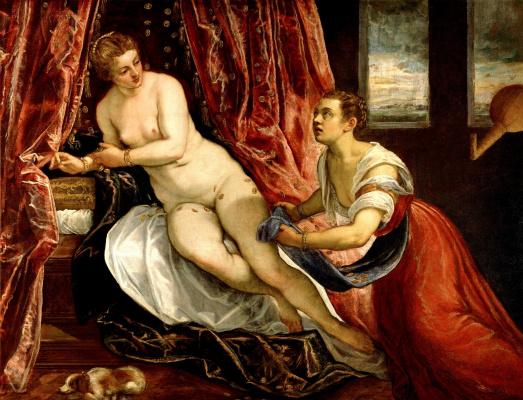 Jacopo (Robusti) Tintoretto. Danaya
