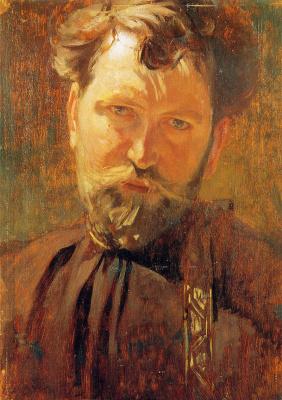 Alphonse Mucha. Self-portrait