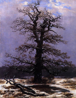 Caspar David Friedrich. Oak in the snow