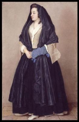 Жан-Этьен Лиотар. Элегантная девушка в мальтийском костюме