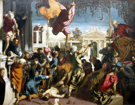 """Jacopo Tintoretto. Cycle of paintings """"the Miracle of St. Mark"""". The miracle of St. Mark"""