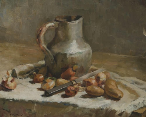 Jean Edouard Vuillard. Still life with jug and knife