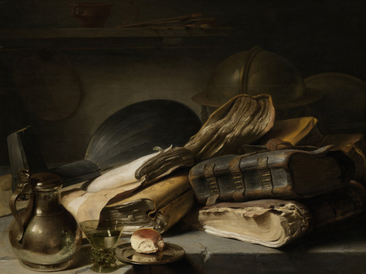 Jan Livens. Still life with books