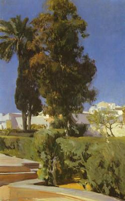 Хоакин Соролья (Соройя). Уголок в саду, Алькасар, Севилья