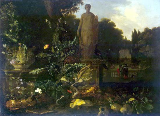 Николас де Вре. Статуя в парке