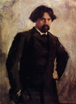 Valentin Aleksandrovich Serov. Portrait of the artist V. I. Surikov