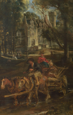 Peter Paul Rubens. A View of Het Steen in the Early Morning, detail