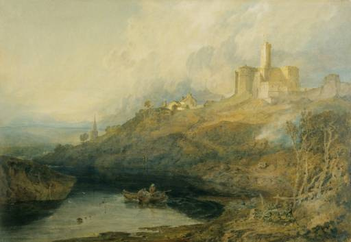 Joseph Mallord William Turner. Warkworth Castle, Northumberland. The sun comes out after a storm