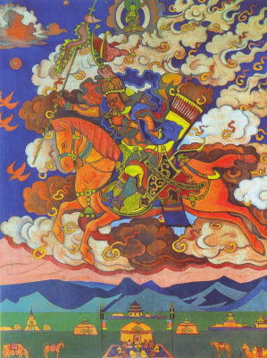 Nicholas Roerich. The future (the Great rider)