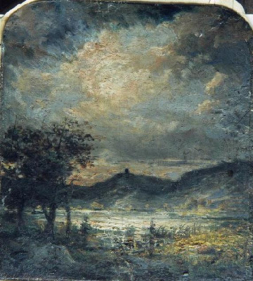 John Constable. Evening landscape