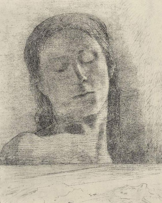 Odilon Redon. Closed eyes
