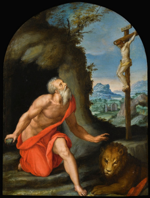 Alessandro Allori. Saint Jerome in the wilderness. Private collection