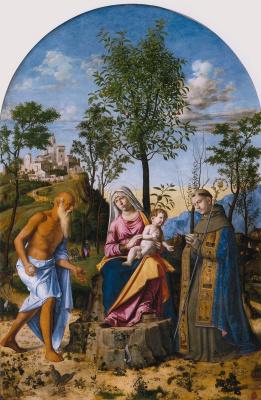 Giovanni Battista Cima da Conegliano. Madonna under the orange tree