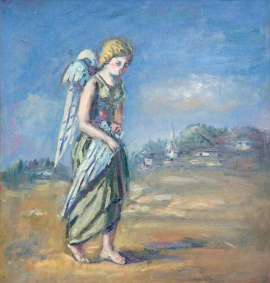 """Sad angel. From the series """"heaven and Hell"""""""