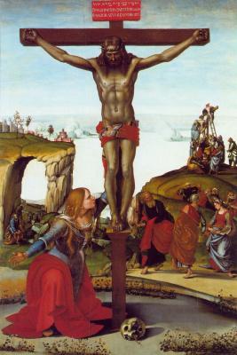 Luke Signorelli. The crucifixion with Saint Mary Magdalene