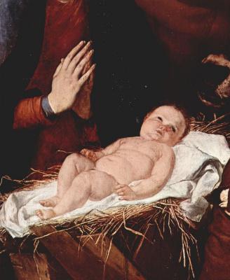 Jose de Ribera. The adoration of the shepherds, detail